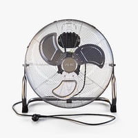 3D model floor-mounted fan