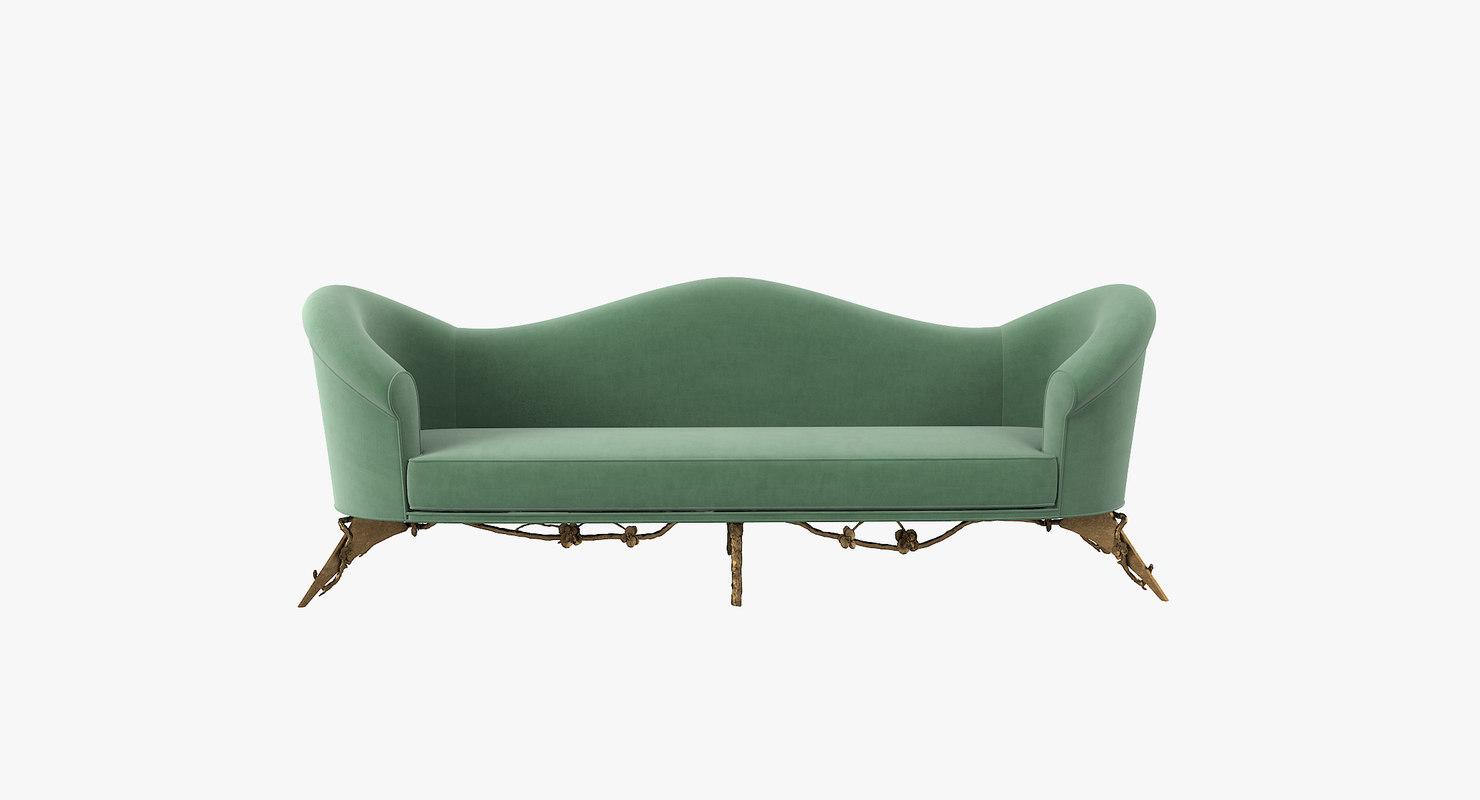 3D koket colette sofa