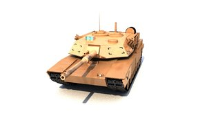 3D tank m1 abraham model