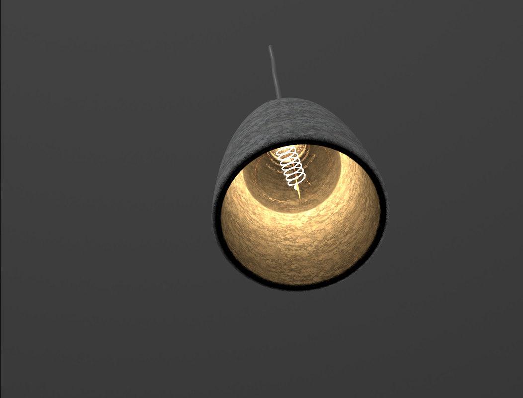 concrete lamp 3D