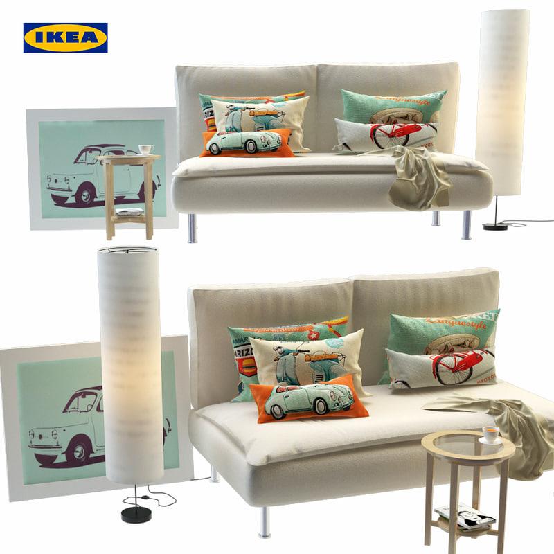 Ikea Furniture Sofa 3d Turbosquid 1200126