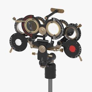 vintage phoropter 3D model