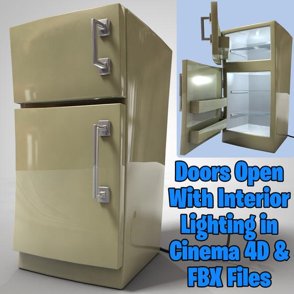 3D refrigerator cartoon model