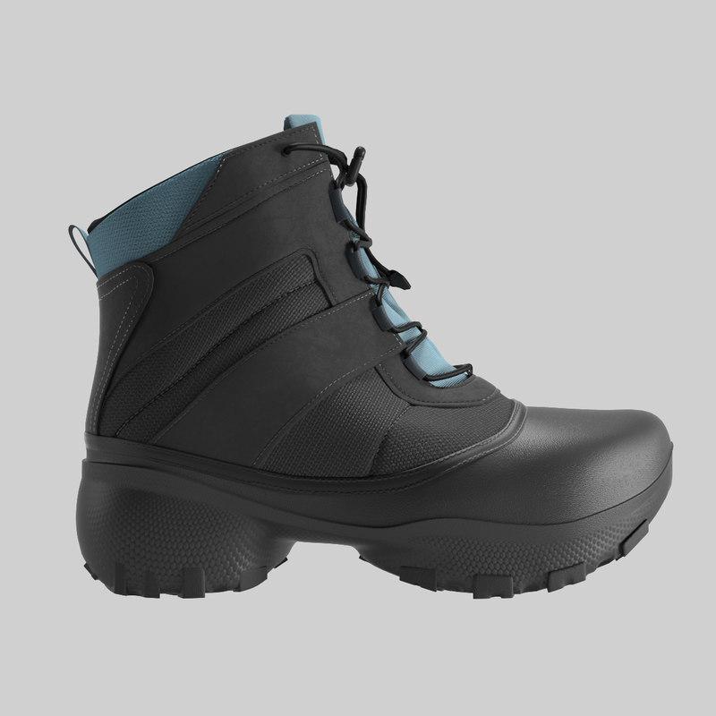 realistic boot 3D model