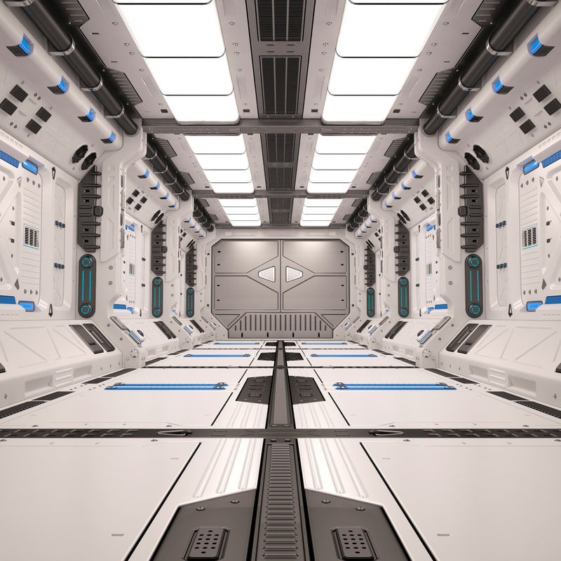 3d Model Sci Fi Corridor Turbosquid 1200324