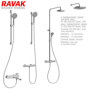 bathroom mixer set ravak 3D model