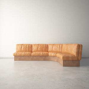 custom designed sofa 3D model