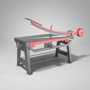 3D guillotine plate shear model