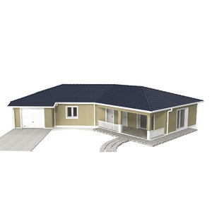 realistic house architecture 3D model