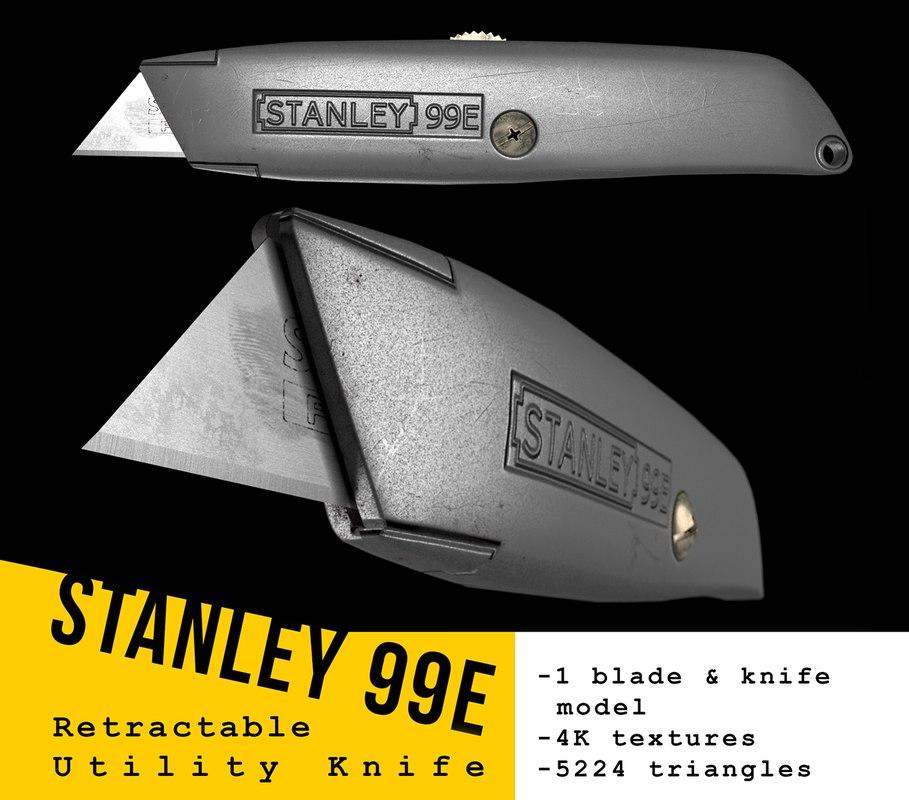 stanley utility knife 3D model