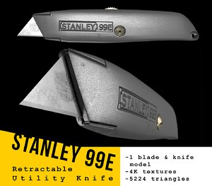 stanley utility knife 3D model