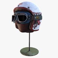 3D helmet glasses