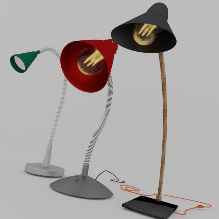desk lamp 3D model