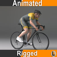 cyclist male 3D