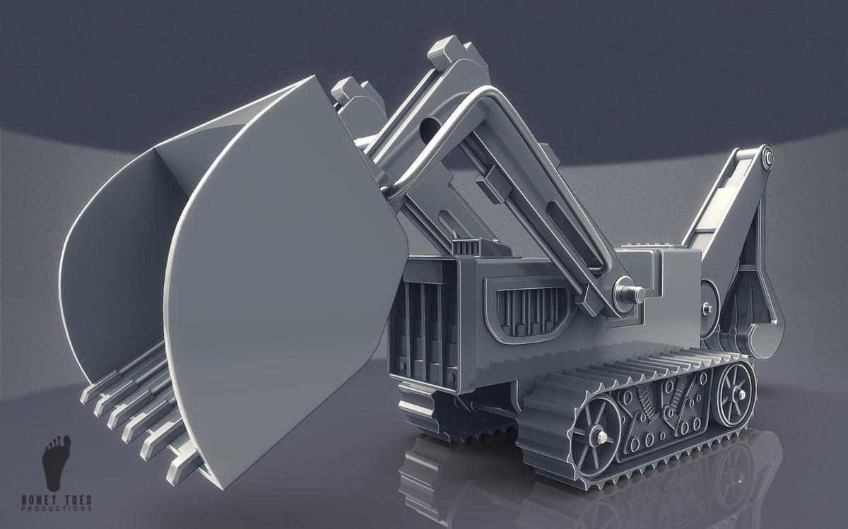 3D steel trencher vehicle