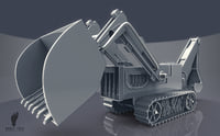 3D Backhoe Construction Tractor