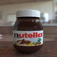 nutella 3D model