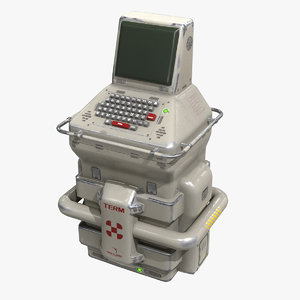 sci-fi console pbr model