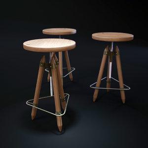 3D stools-ello model
