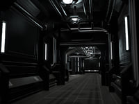 Low-Poly Sci-Fi Modular Corridor