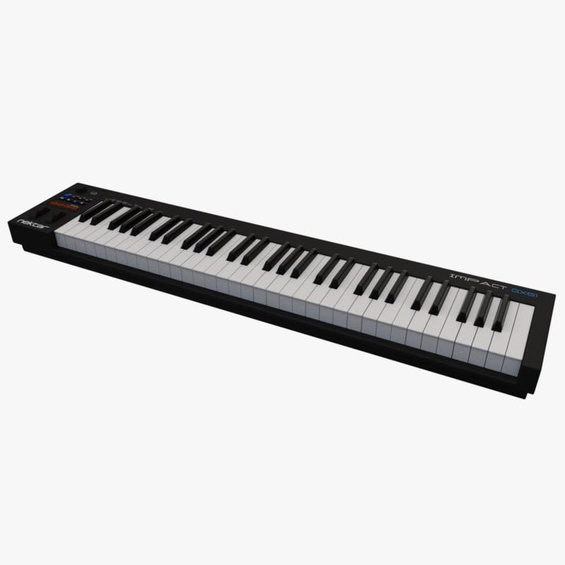midi-keyboard keyboard 3D model