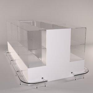 showcase shopping 3D model