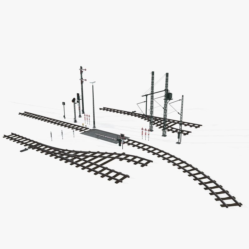3D railroad rails