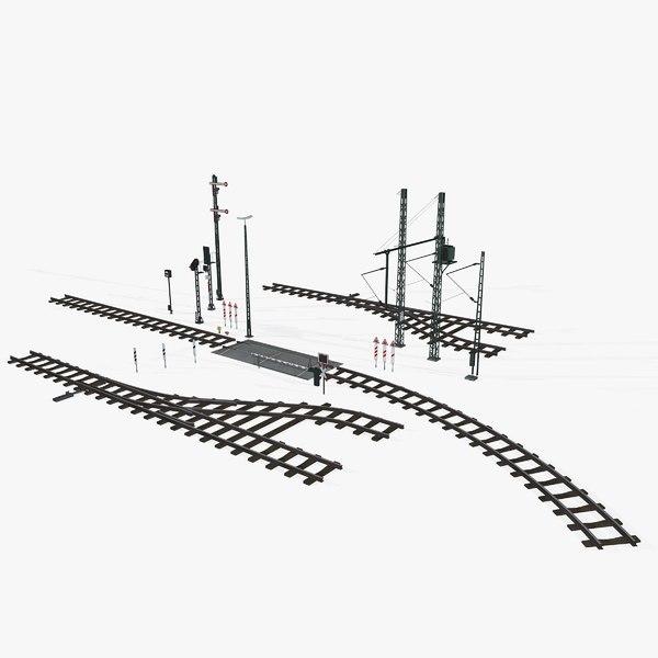 3D railroad rails