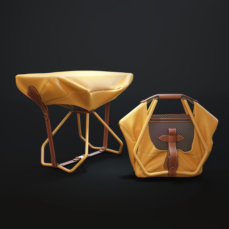 stool louis vuitton objet 3D model