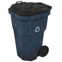 3D garbage container 1 old model