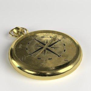 3D vintage compass model
