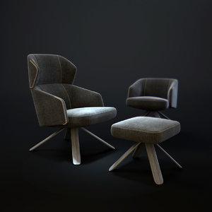 bosc repaus contemporary armchair model
