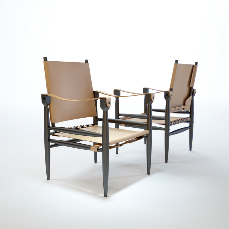 leather-safari-chair 3D model