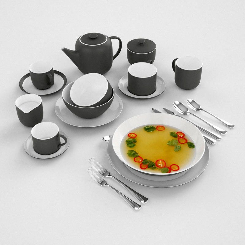 dish cup 3D