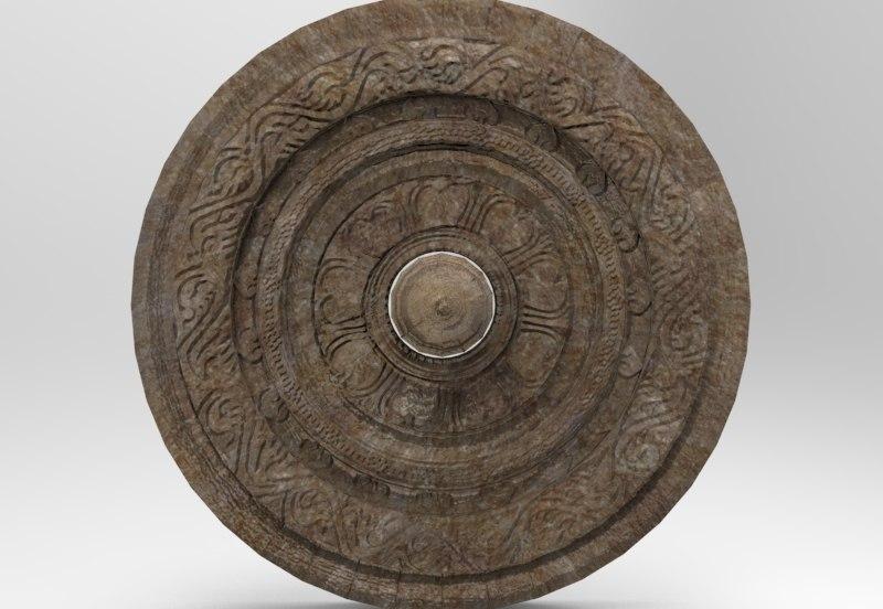 3D chariot wheel sculpting model