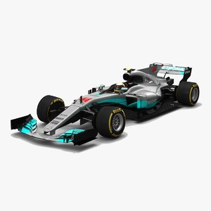3D mercedes w08 eq power