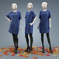 3D dress burda model