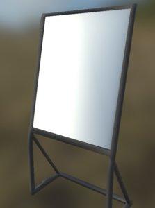 3D eazel whiteboard model