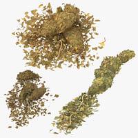 marijuana piles 3D model