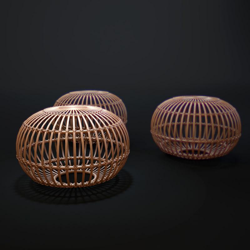 franco-albini-ottoman 3D model