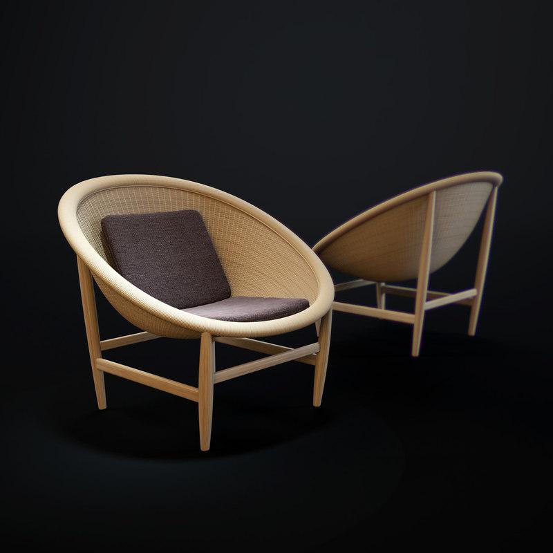 outdoor-basket-armchair 3D model