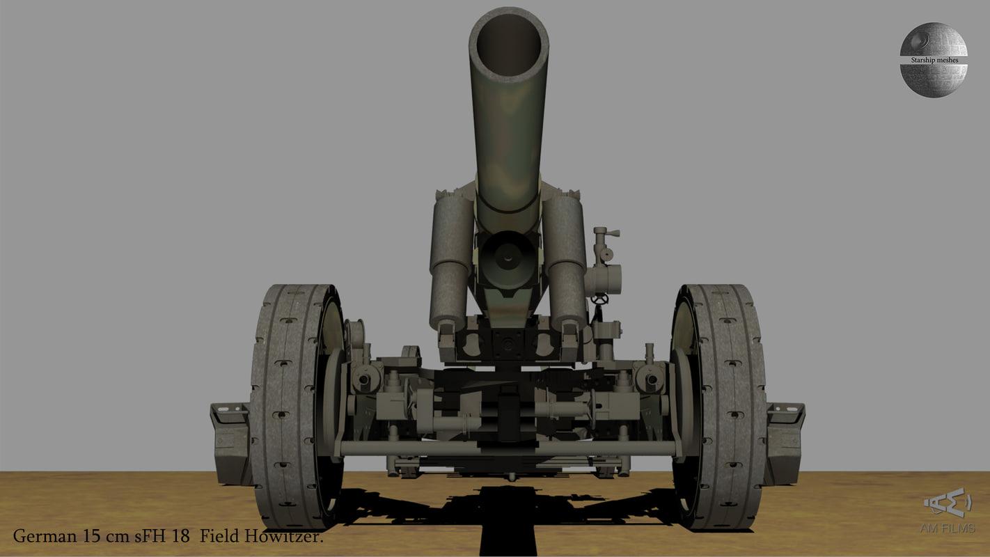 german 15 cm sfh 3D