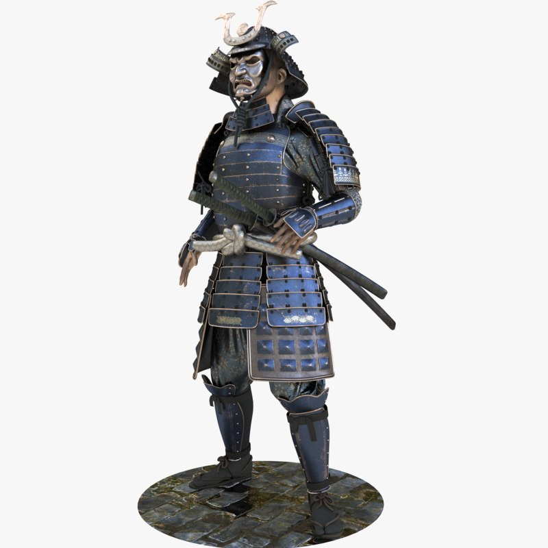 Samurai armor 3D model - TurboSquid 1200566