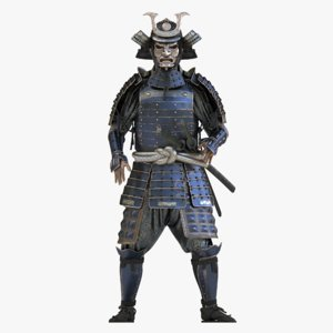 samurai armor 3D model