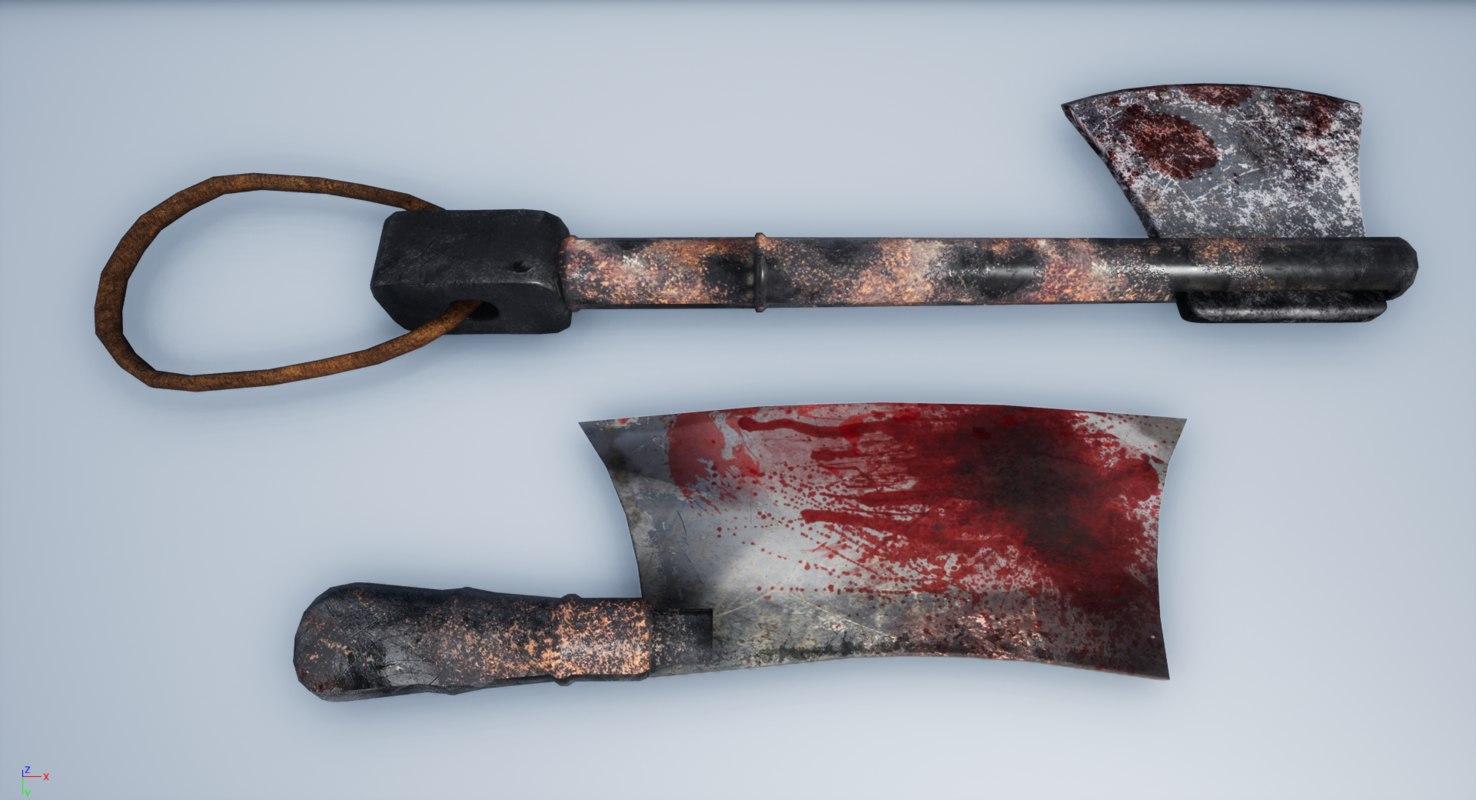 axe butcher knife 3D model