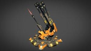 3D air flak cannon
