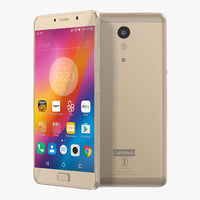 3D lenovo p2 champagne gold model