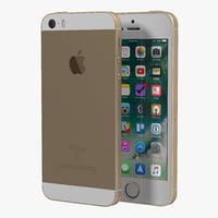 3D iphone se gold