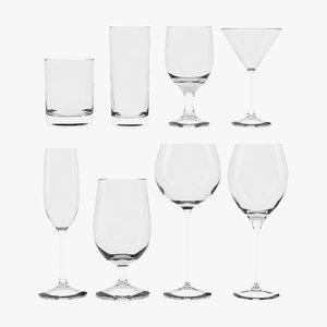 3D model cocktail glasses