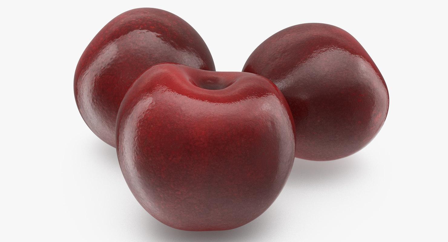 3D cherry fruit